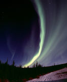 Narrow aurora arc Stock Photo