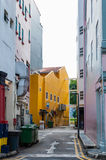 Narrow back alley in Singapore city Stock Photo