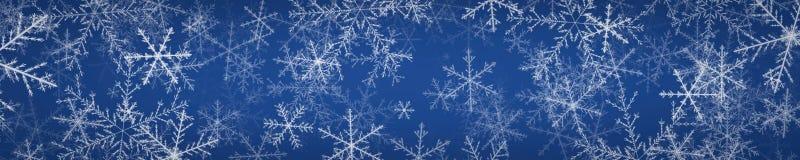 Narrow background with snowflakes Royalty Free Stock Photo