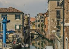 Old Venice Canal Royalty Free Stock Photography