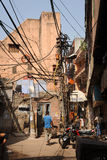 The narrow backstreets of Old Delhi, India. Royalty Free Stock Image