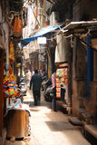 The narrow backstreets of Old Delhi, India. Royalty Free Stock Photo