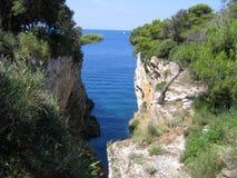 Narrow bay. View of the sea from a narrow bay in Croatia Royalty Free Stock Photography