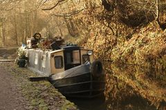 Narrow Boat. A Narrow Boat moored on a canal Royalty Free Stock Images