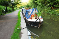 Narrow Boat on a Canal Royalty Free Stock Photos