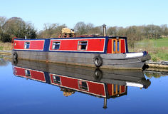 Narrow Boat on Lancaster Canal Royalty Free Stock Photo