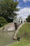 Narrow boat lock, Caen Hill, Wiltshire Royalty Free Stock Photo