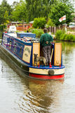 Narrow boat on midlands canal. Royalty Free Stock Photos