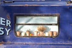 Narrow Boat Window. Royalty Free Stock Photos