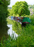 Narrow Boats At He Kennet And Avon Canal Royalty Free Stock Photos