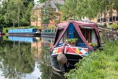 Narrow Boats Stock Image