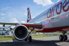 Narrow-body jet airliner Airbus A321-211. Airberlin. Royalty Free Stock Images