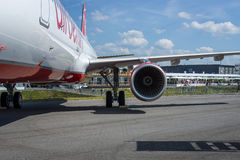 Narrow-body jet airliner Airbus A321-211. Airberlin. Royalty Free Stock Photography