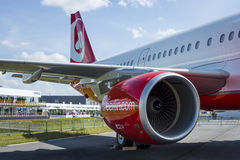 Narrow-body jet airliner Airbus A321-211. Airberlin. Stock Photography