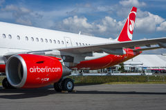 Narrow-body jet airliner Airbus A321-211. Airberlin. Stock Photo