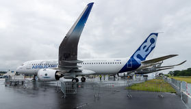 Narrow-body twin-engine jet airliner Airbus A320neo Stock Image