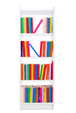 Narrow book shelf Royalty Free Stock Photography