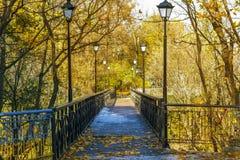 Narrow bridge Royalty Free Stock Photos