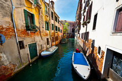Narrow Canal Royalty Free Stock Photos