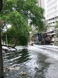 Narrow canal Royalty Free Stock Image