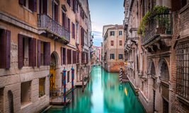 Narrow canal in Venice Royalty Free Stock Photos