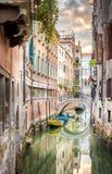 Narrow canal in Venice Stock Photos