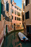 Narrow canal of Venice Stock Photography