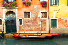 Narrow canal in Venice Stock Photography