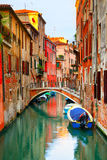 Narrow canal in Venice Royalty Free Stock Images