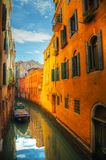 Narrow canal in Venice, Italy Royalty Free Stock Image
