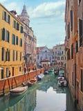 The narrow canal Stock Photos