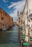Narrow Canal in Venice, Italy Royalty Free Stock Images