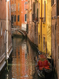 Narrow canal of Venice. One of the many canals of Venice, Italy Royalty Free Stock Photos