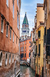 Narrow canal in Venice Royalty Free Stock Image