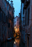 Narrow canal in Venice Royalty Free Stock Photo