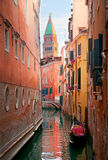 Canal and st Marcus bell tower Royalty Free Stock Image
