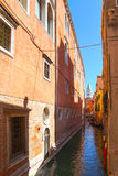 Narrow canals with gondolas Venice, Italy, Europe Stock Photography