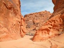Narrow canyon stock images