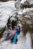 Narrow canyon Stock Photography