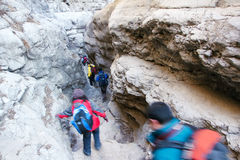 Narrow canyon Stock Image