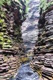 Narrow Canyon in Bahia Brazil. Waterfall Canyon in Chapada Diamantina in Bahia, Brazil Royalty Free Stock Image