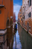 Narrow channel-street in Venice Stock Photography