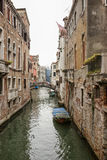 Narrow channel view in Venice Stock Photography