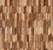 Narrow chevron natural larch parquet seamless floor texture. Background Royalty Free Stock Image