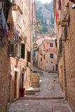 Narrow City Street Stock Image