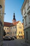 Narrow city street. stock images