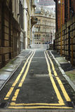 Narrow city street. Manchester, England, Europe. Stock Images