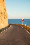 Narrow coastal road Royalty Free Stock Photo