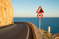 Narrow coastal road Stock Image