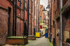 Narrow Cobbled Alley Stock Photo
